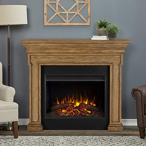 Cheap Real Flame Emerson Grand Electric Fireplace English Oak Black Friday & Cyber Monday 2019