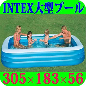 INTEX 58484NP - Piscina (Azul, Color Blanco, Inflable, Rectangular ...