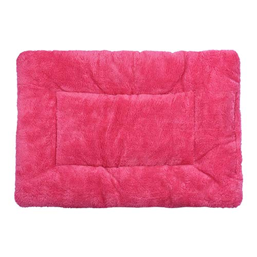 Fewear Dog Bed Mat | Super Soft Anti-Slip Pet Crate Pad - Washable Dog Mattress for Dogs & Cats| Modern Cat Litter Mat (Hot Pink) (Wash Bowl Pink)