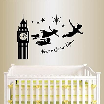 Wall Vinyl Decal Home Decor Art Sticker Silhouette Never Grow Up