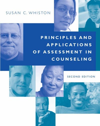 Principles and Applications of Assessment in Counseling (Susan C Whiston)