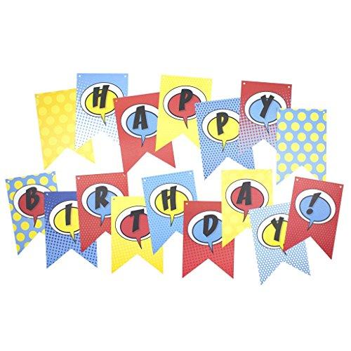 My Mind's Eye - Paper Love - Comic Pop Happy Birthday Word Banner