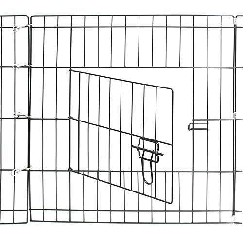 OxGord-Metal-Wire-8-Panel-Folding-Exercise-Yard-Fence-for-Pets-36-Inch-Black