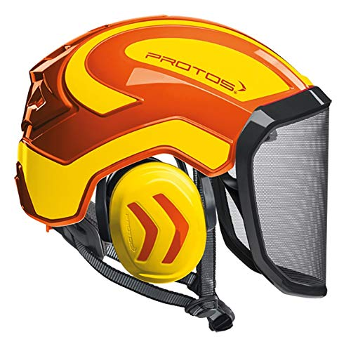 Protos Integral Arborist Helmet - Orange & Neon Yellow