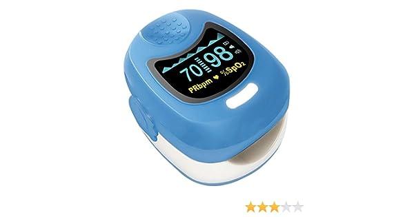 Contec azul Kids OLED dedo oxímetro de pulso: Amazon.es: Salud y cuidado personal