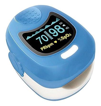Contec azul Kids OLED dedo oxímetro de pulso