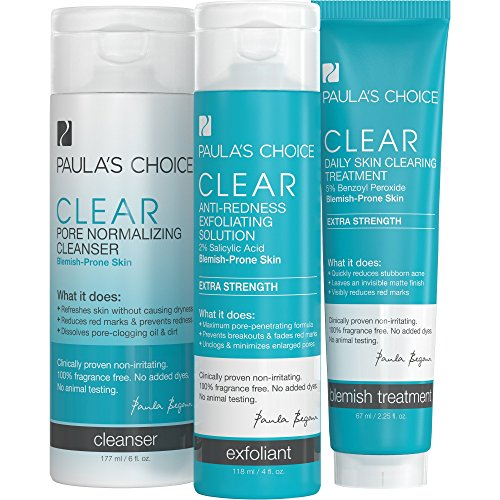 Clear Extra Strength Acne Kit – 2% Salicylic Acid & 5% Benzoyl Peroxide for Severe Acne