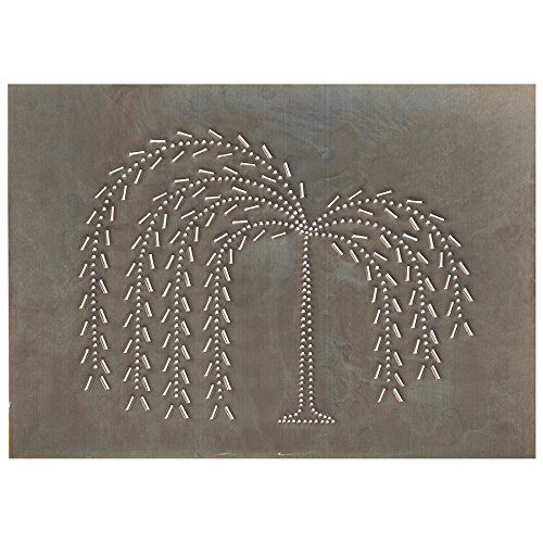 Irvin's Country Tinware Horizontal Willow Panel in Blackened Tin