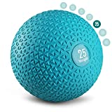 Yes4All Slam Balls 25lbs for Strength and Crossfit Workout – Slam Medicine Ball, Trendy Teal (KX5B)