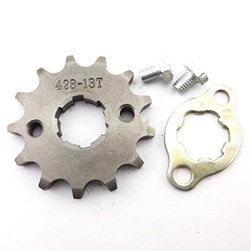 Sprocket Tooth Motor (TC-Motor 428 13 Tooth 20mm Front Chain Sprocket Gear 50cc 70cc 90cc 110cc 125cc 140cc 150cc 160cc Engine ATV Quad Pit Dirt Trail Bike)