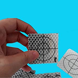 50Pcs Reflector Sheet 60 x 60 mm Total Station Reflective Tape Target Widely Used In Enginee
