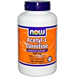 Now Foods Acetyl-L Carnitine 500 mg - 200 Vcaps 12 Pack