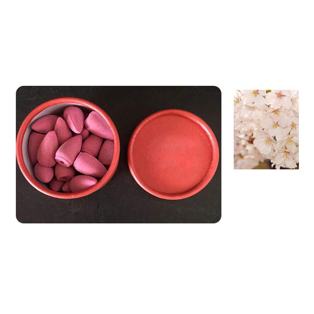 Jinjin Backflow Incense Cones 25Pcs | 9 Mixed Natural Scents - Ocean, Rose, Jasmine, Cherry Blossom, Dragon Scorpion, Magnolia, Lavender, Peony, Night Scent | (D)