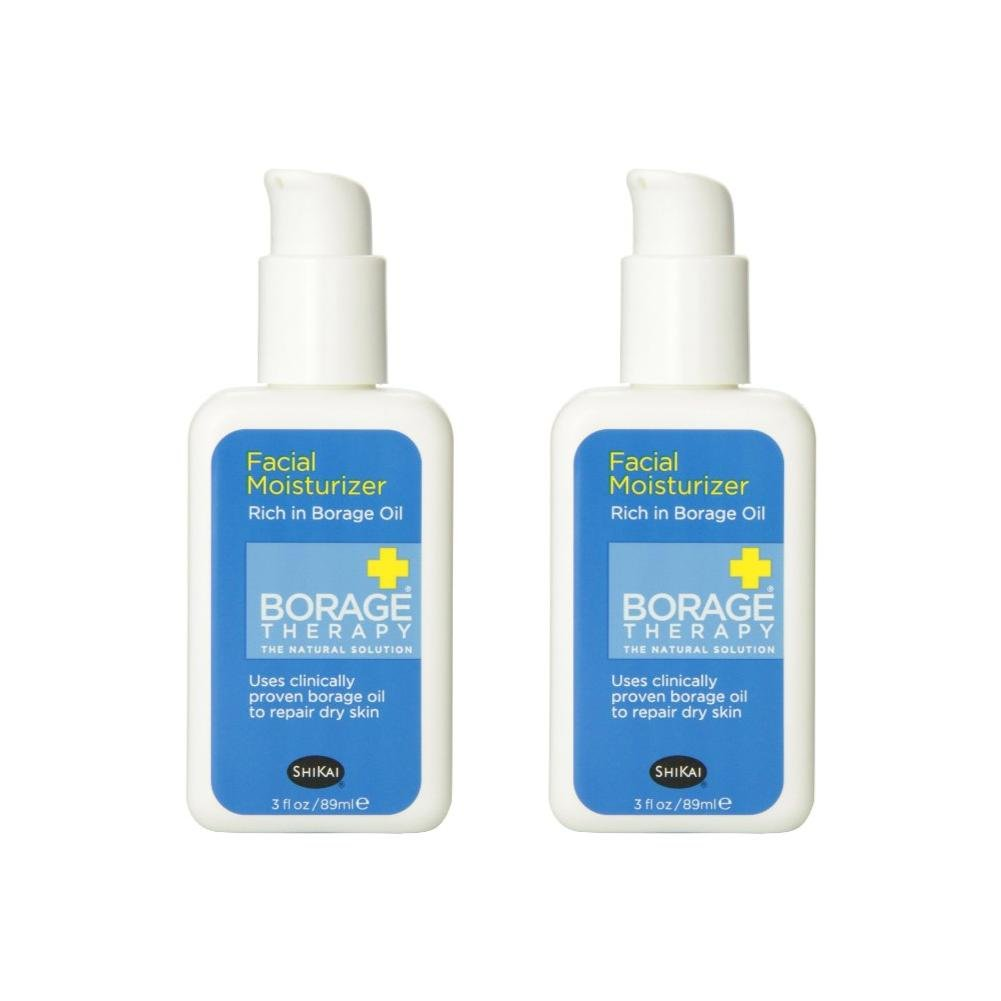 ShiKai Borage Therapy - Daily Facial Moisturizer, 3 Ounces (Pack of 2)