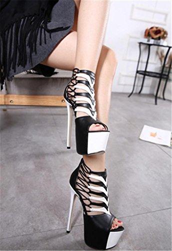 Toe Heel Zapatos Boca Kitzen Bombas Sandalias Mujer Peep 38 Sandalias Bombas Zapatos Zapatos Strap Mujeres Bombas Impermeable Plataforma Ladies Ankle de Femeninos x86wTwfq0