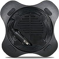 Black HIDOLL 12V DC Auto Portable Air Compressor Pump//Tire Inflator Mini Air Compressor