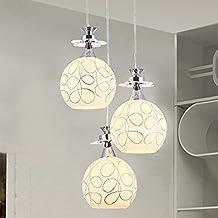 BGTJZY Pendant Lighting Chandelier for Kitchen Island and Dining Room Lving Room Bedroom Single Head glass an led Diameter 20 cm Pendant Lights