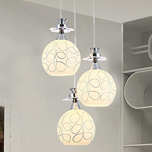 JJ Moderno LED luci pendente Fixture Testa singola lampada lampadario  personalità creative lampadari di vetro lampadari, un idilliaco led  diametro 20 ...