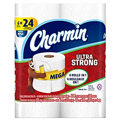 Charmin Ultra Strong Toilet Paper, Bath Tissue, Mega Roll, 6 Count