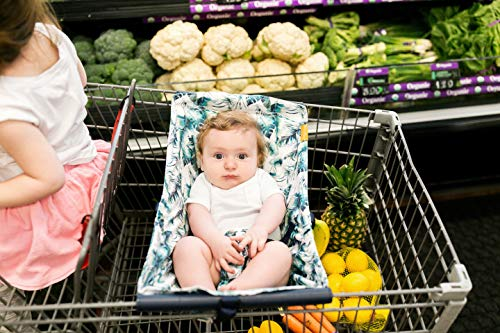 51HC6hFABNL - BINXY BABY Shopping Cart Hammock | The Original | Holds All Car Seat Models | Ergonomic Infant Carrier + Positioner