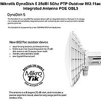Mikrotik DynaDish 5 25dBi 5Ghz PTP Outdoor 802.11ac Integrated Antenna POE OSL3