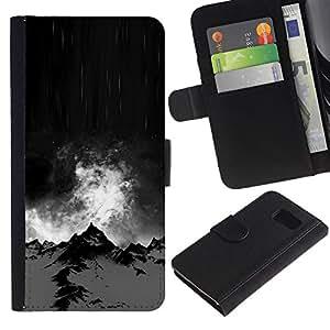 All Phone Most Case / Oferta Especial Cáscara Funda de cuero Monedero Cubierta de proteccion Caso / Wallet Case for Sony Xperia Z3 Compact // Alaska Black Night Winter Climb