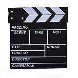 BCP Black & White Color Wooden Director's Film Movie Slate Board Clapper Board