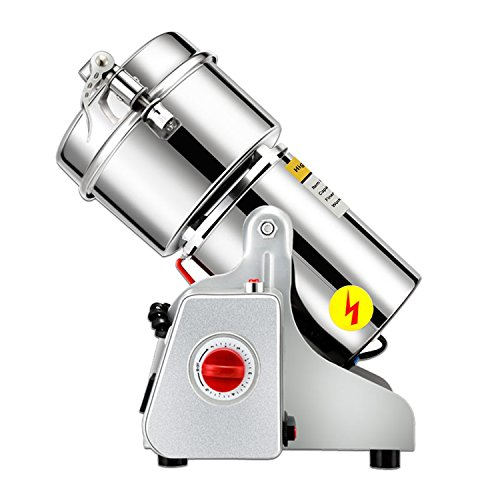 CGOLDENWALL 400g stainless steel high-speed grain grinder mill family medicial Cereal Grain mill machine spice Herb Grinder grain grinder pulverizer 110v/220v gift for mom, wife ()