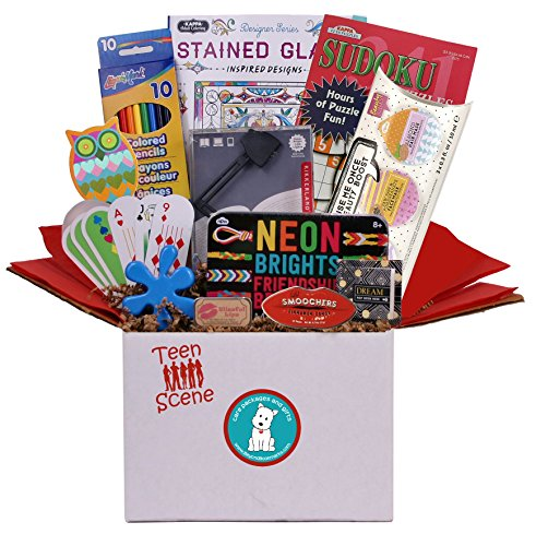Teen Scene - Girl's Summer Camp Care Package or Birthday Gift Includes Fun Teen Oriented Activities and Gifts