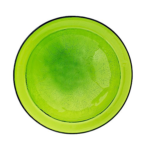Achla Designs Crackle Glass Bowl, 12-in, Fern Green