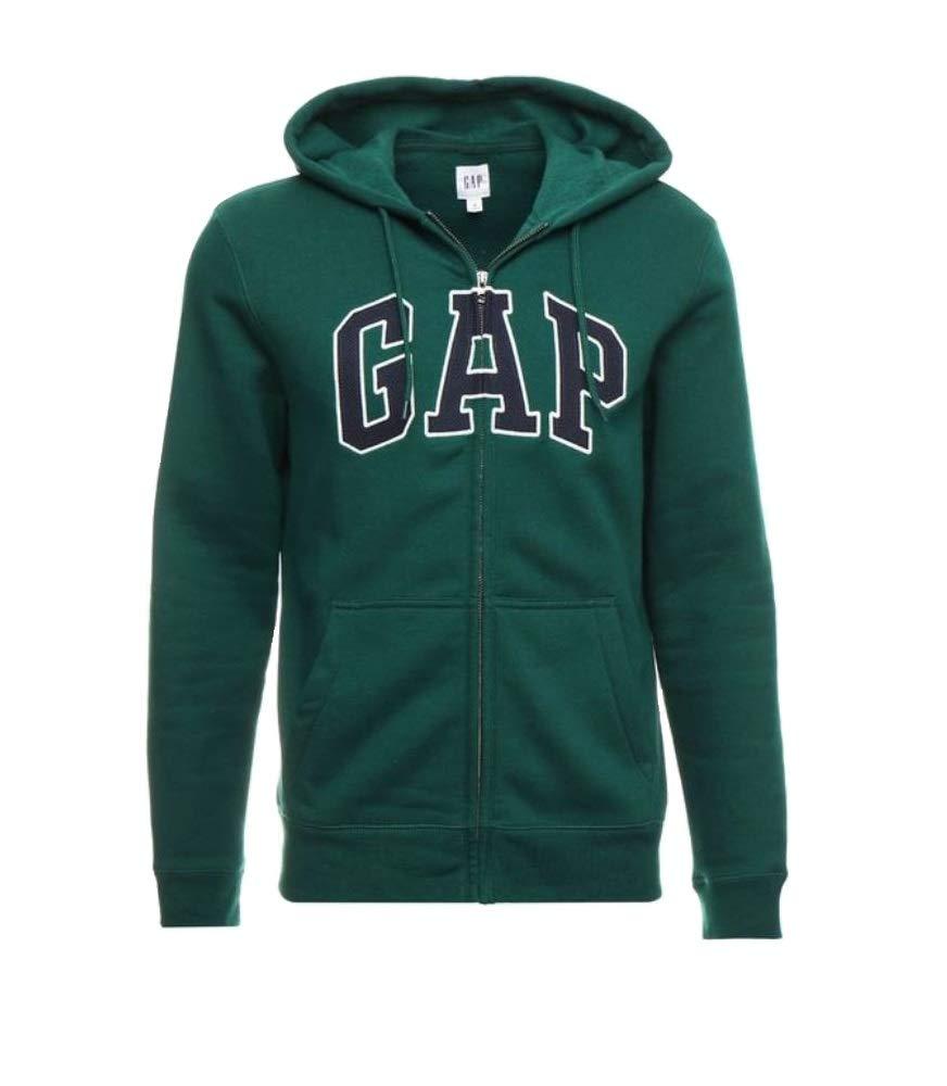 GAP ARCH LOGO Zip Hoodie Sweatshirts GREEN  SWEATER JACKET MEN  NEW