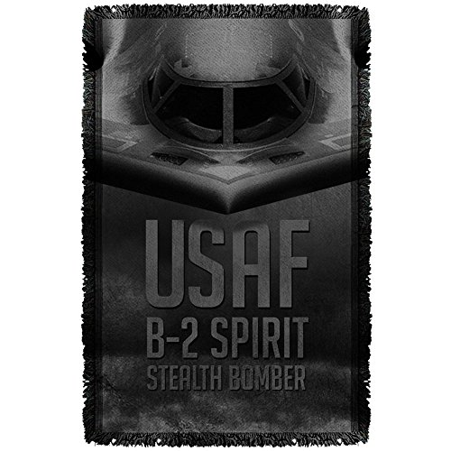Air Force - Stealth Woven Throw Throw Blanket 35 x 57in