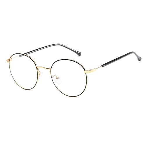 CVOO Metal Glasses Frame Retro Woman Men Reading Glass Frame UV Protection Clear Lens Computer Eyewear Eyeglass