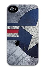iPhone 4S Case,Air Force Insignia11 PC Hard Plastic Case for iPhone 4/4S 3D by icecream design