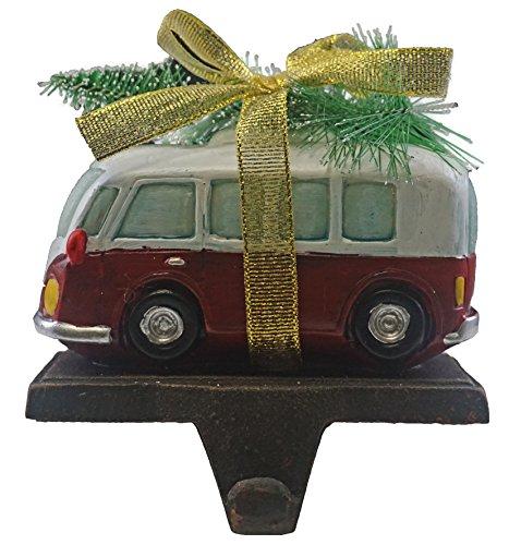 Seasons Designs Retro Camper Van with Tree Christmas Stocking Holder