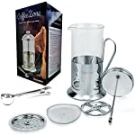 French Press Coffee & Tea maker with Clip-On measuring spoon. Lab Quality Carafe & Stainless Steel. Premium Quality Parts & Craftsmanship! Pays for itself with the Best brew! (34oz / 1000ml, Matte) made by GoodsForBetter