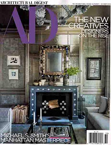 Architectural Digest Magazine Issue : October 2018 + Magazine Cafe Bookmark