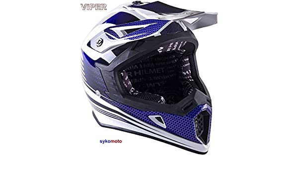 Amazon.es: VIPER RS X95 MOTOCROSS MOTO QUAD ATV DIRT ENDURO OFF ROAD DEPORTE CARRERAS MOTO CASCO AZUL (M (57-58 CM))