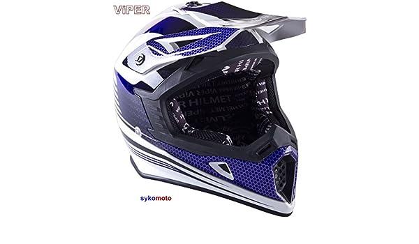Amazon.es: VIPER RS X95 MOTOCROSS MOTO QUAD ATV DIRT ENDURO OFF ROAD DEPORTE CARRERAS MOTO CASCO AZUL (M (57-58 CM))