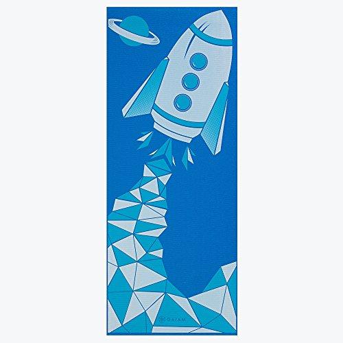 Gaiam Kids Yoga Mat, Blue Rocket, 3mm