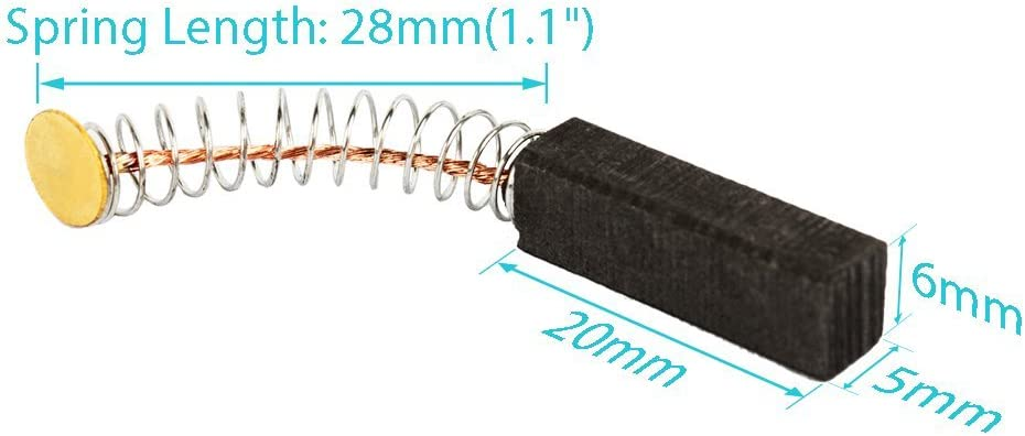 DealMux par motor escobillas de carb/ón de 18 mm x 11 mm x 5 mm para motores el/éctricos