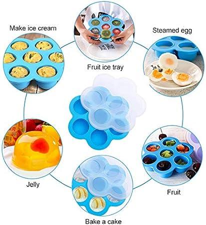 Bandeja de alimentos de silicona,Bandeja de alimentos para bebés,Congelar Silicona Bandeja Molde,Contenedor de almacenamiento para alimentos para bebés caseros, seguro y reutilizable
