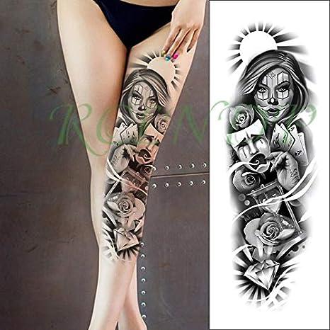 tzxdbh Etiqueta engomada del Tatuaje a Prueba de Agua máscara de ...