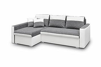 Eckcouch Berlin ecksofa sofa eckcouch mit schlaffunktion und zwei bettkasten