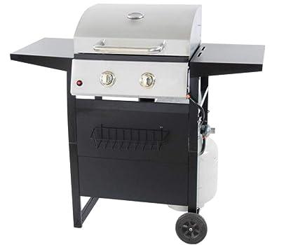Amazon.com: revoace 2-burner 24.000 btu LP Gas Parrilla con ...