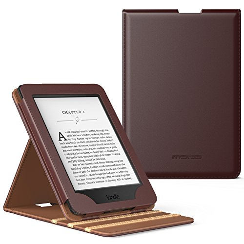 MoKo Case for Kindle Paperwhite, Premium Vertical Flip Cover with Auto Wake/Sleep Fits All Paperwhite Generations Prior to 2018 (Will not fit All-New Paperwhite 10th Generation), Coffee