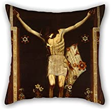 Oil Painting José De Mora - The Lord Of Chalma Cushion Cases ,best For Kids Room,boy Friend,divan,him,bar Seat,teens 16 X 16 Inches / 40 By 40 Cm(two Sides)