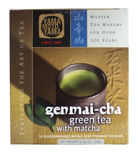 Yamamotoyama Genmai Brown Rice Tea Pyramid Bag, 1.06-Ounce Boxes (Pack of 3)