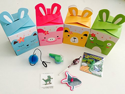 MP 12x Pack Happy Birthday Goody Bags; Pre Made & Filled with Toys, Filled Goody Bag/Loot Bag ()