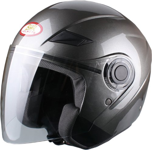 271 opinioni per BHR 49873 Casco Demi-Jet, Taglia S, Titanio Metallizzato